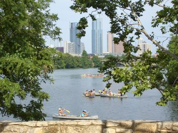 Rent canoes and kayaks down in Zilker Park!