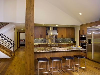 Vail apartment rental - Fully stocked, pro kitchen with double ovens & four burner range with grill