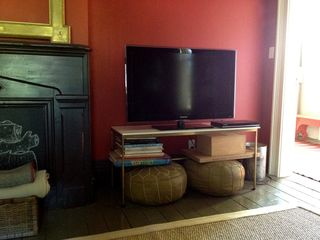 "Rhinebeck house photo - New 42"" flat-screen TV comes with Apple TV, a DVD player and a library of movies"