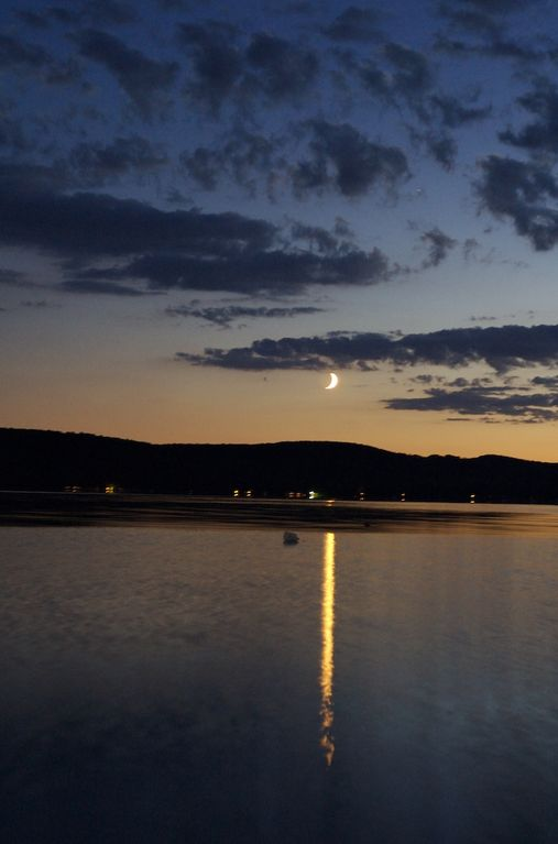 Moonrise over Big Platte Lake.