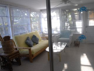 Sanibel Island cottage photo - Lanai can be closed off for privacy (sliding doors and vertical blinds)