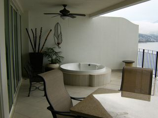 Puerto Vallarta condo photo - Extended Balcony with Jacuzzi Style Tub Overlooking the Bay
