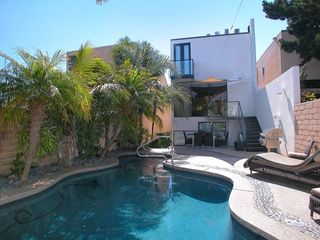 walled private rear yard with pool and spa - Mission Bay house vacation rental photo
