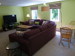 Biddeford house photo - Family room #2: Upstairs with 52 inch HDTV, game table, sleeper sofa, full bath