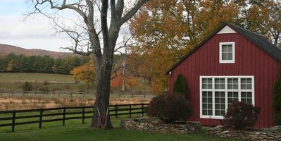 A Restored Wagon Barn On A 1790's Farm