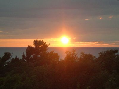 Cross Village cottage rental - relax with this great view of lake michigan