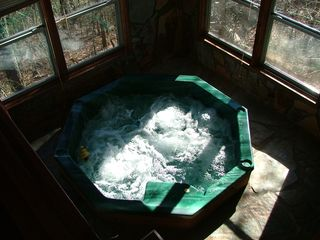 Blue Ridge cabin photo - Hot Tub with wonderful mountain views