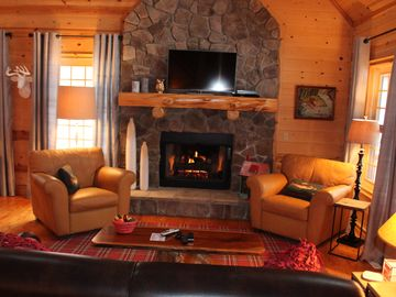 Saugatuck / Douglas cabin rental - Cozy fireplace
