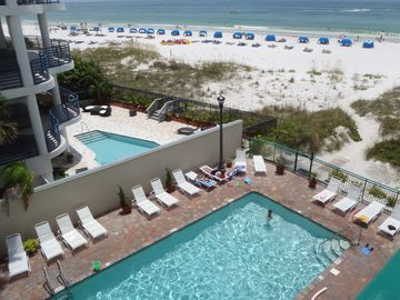 St Pete Beach condo rental - Gulf view taken from the balcony!