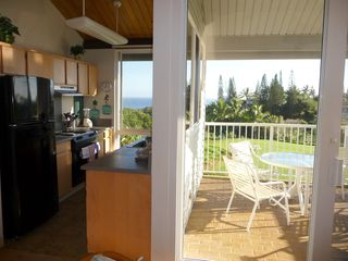Princeville condo photo - Kitchen and Living Room-side Lanai -- enjoy the view and the balmy breeze!