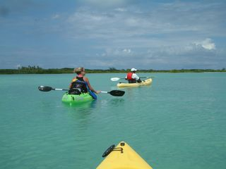 Great Exuma villa photo - Sea kayaking at Mariah Cay with Gully... Let us help you have some sea fun!