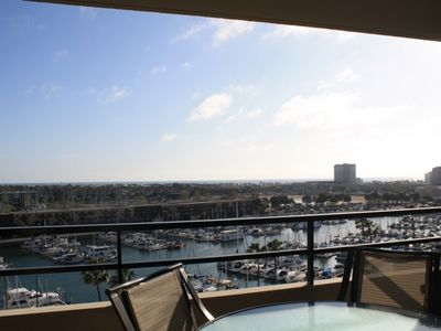 Spectacular, unobstructed views overlooking the Marina and Ocean