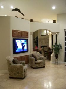 Open Living Space with TV