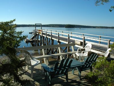 Wharf and deck across the street-available to guests
