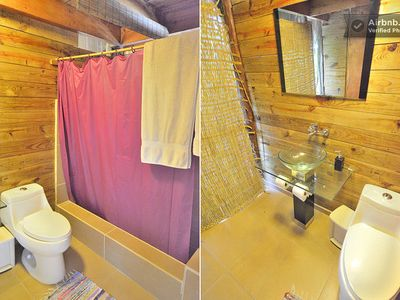 Cabarete estate rental - classy bathrooms eco suite cacique and bohio