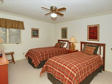 Third bedroom offers twin beds