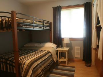 Main Level Bedroom - single over double bunk beds