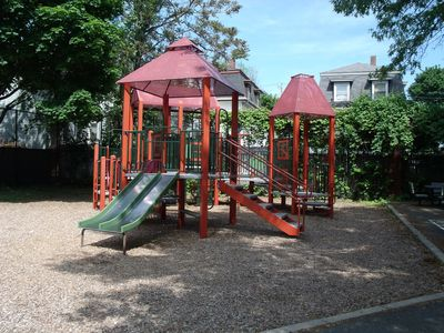 Jungle gym set at park 4 doors down
