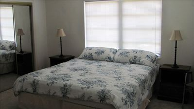 Master bedroom (master bath adjoins)