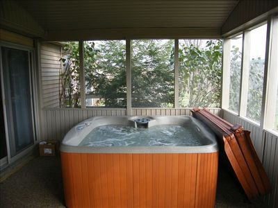 The Hot Tub in the 3 seasons room