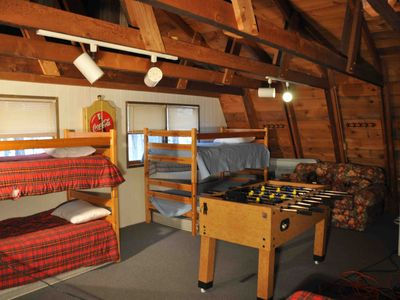 Wilmington house rental - The loft. A great hang out area with a Dart board, foosball and more!