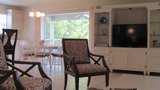 Sanibel Island condo photo - living room with 42 inch flatscreen tv, dvd player