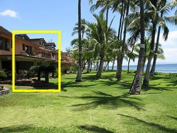 Lahaina townhome rental - 3 bedroom with large balcony and large patio on the beach.