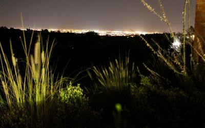 Breathtaking view of Tucson's city lights from the back Patio!