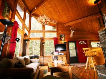 Black Hawk cabin rental - Georgous Great Room! 20-foot vaulted ceiling + Hi-Def TV w/ HD Directv DVR!