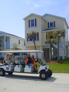 Rent a golf cart - paths provided.