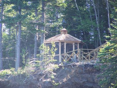 Campobello Island cottage rental - Nestled in the woods, over water