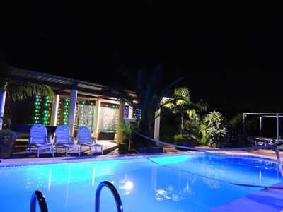 Stunning colour changing pool lighting and new LED lighting for 2013