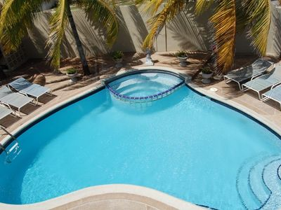 Aruba villa rental - Heart Shaped Pool