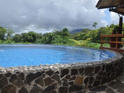 Pool overlooking the Volcano