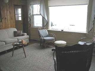 South Kingstown cottage rental - Window facing ocean from livingroom