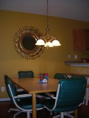 South Island Villas Ocean City townhome photo - Kitchen table plus breakfast bar seats 10