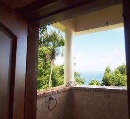 Peter Bay villa photo - Both guest house bedrooms have private, covered al fresco showers with views.