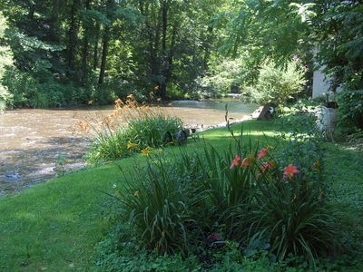 Take a walk along the creek and smell the flowers.