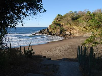 Private beach of the residencia. Very safe protected swimming and snorkeling.
