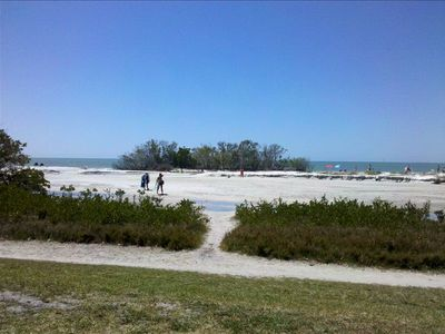 Fort Myers Beach condo rental - White sandy beach along the Gulf is just steps from your door.