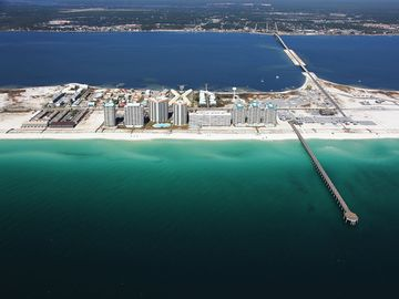 Navarre Beach aerial view