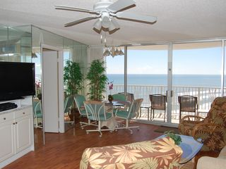 Daytona Beach condo photo - Oceanfront w/New Furniture, Recliners, Wood Floors, Big Flat Screen TV & DVD