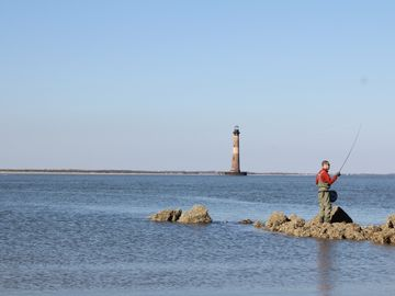 Enjoy a walk to see the Morris Island Lighthouse.