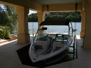 Lake Austin house photo - 2008 Ski Natique Wakeboard boat with Tower and sound system.