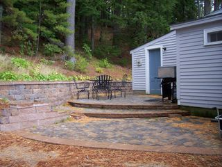 Mousam Lake cottage photo - Patio hardscaping as an extension to the kitchen!