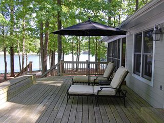 Lake Gaston house photo - lounge on the deck - midday gets full sun