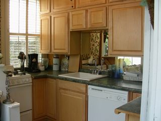 Charleston apartment photo - Apt.C Kitchen w/dishwasher, gas stove and oven, refrigerator & microwave.