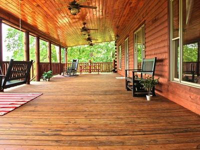 Front Porch With Views of English Mountain, Mt. LeConte, Douglas Lake-1200 SQ FT