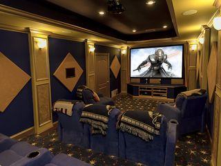 Clermont estate photo - Indoor movie theater..The seats recline fully like beds/ Blankets & Pillows.