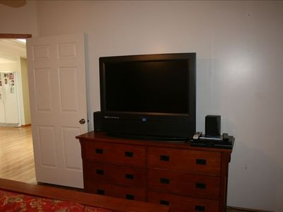 large TV in master bedroom